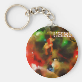 Merry Christmas Tree Keychains