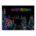 Merry Christmas Tree Lights Postcard