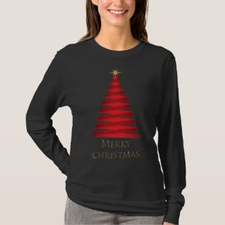 Merry Christmas Tree Long Sleeve T-Shirt