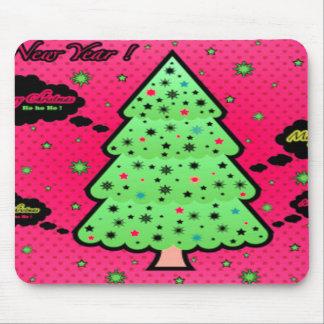 Merry Christmas Tree Mousepad