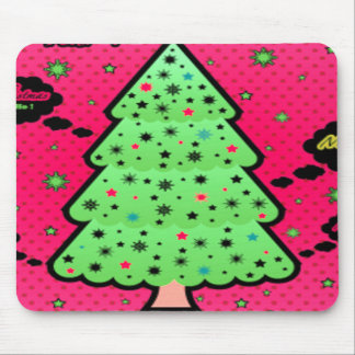 Merry Christmas Tree Mouse Pad