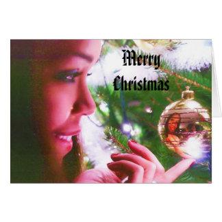 MERRY CHRISTMAS, TREE ORNAMENT card