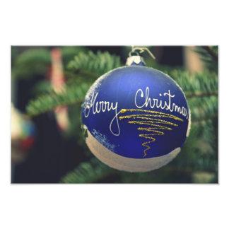 Merry Christmas tree ornament Photo Print