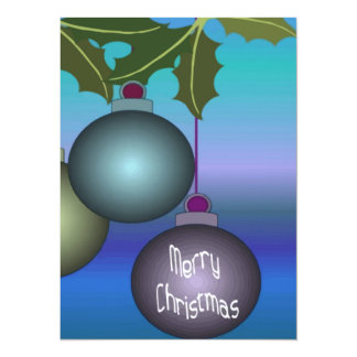 Merry Christmas Tree Ornaments Card