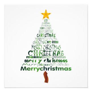 Merry Christmas Tree Party Invitation