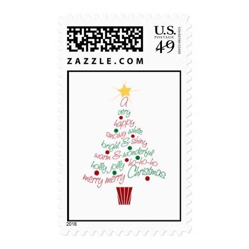 Merry Christmas Tree Postage