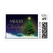 Merry Christmas Tree Postage STamp