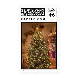 Merry Christmas Tree Postage Stamps
