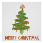 Merry Christmas Tree Posters
