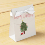 Merry Christmas Tree & Presents Favor Box at Zazzle