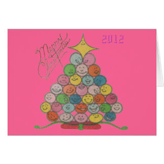 Merry Christmas Tree Quilt Panel 2012 Card