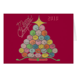 Merry Christmas Tree Quilt Panel Card