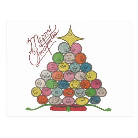 Merry Christmas Tree Quilt Panel Postcard