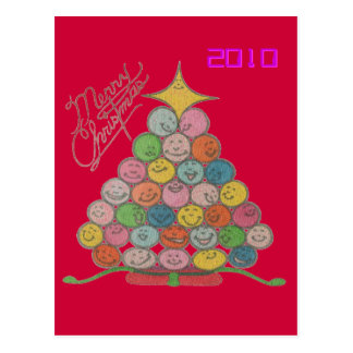 Merry Christmas Tree Quilt Panel Postcard
