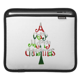 Merry Christmas Tree Sleeve For iPads