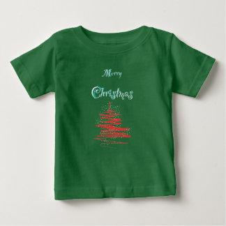 Merry Christmas Tree Snowflakes Baby T-shirts