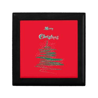 Merry Christmas Tree Snowflakes Gift Box