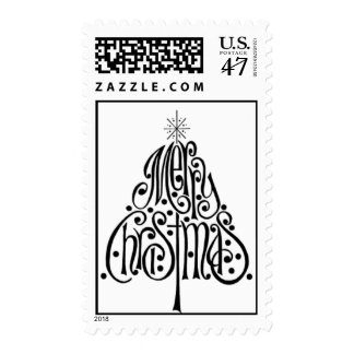 Merry Christmas Tree Stamps