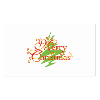 Merry Christmas Tree Star Invitation Postage Label Business Card