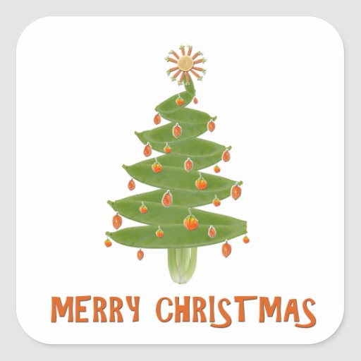 Merry Christmas Tree Stickers
