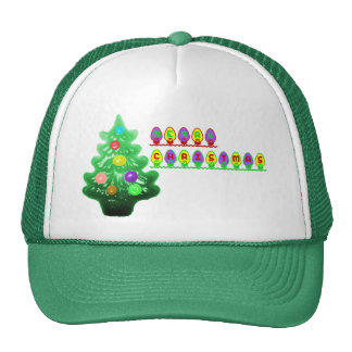 Merry Christmas Tree Trucker Hat