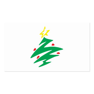 Merry Christmas Tree with Star Invitation Business Card