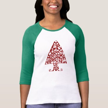 Christmas Themed Merry Christmas Tree Women's Long Sleeve T Shirt