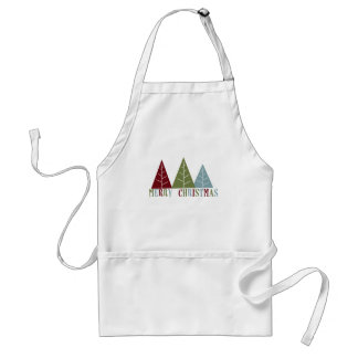 Merry Christmas Trees Adult Apron