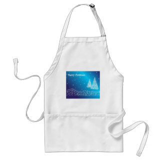 Merry Christmas Trees and Stars Adult Apron