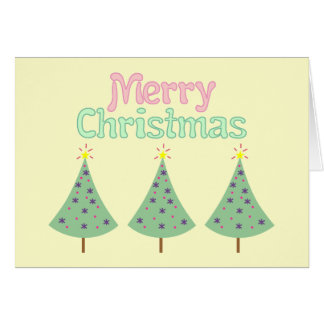 Merry Christmas Trees Card