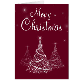Merry Christmas Trees card