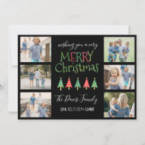 Merry Christmas Trees Collage Holiday Card