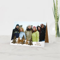 Merry Christmas Trees & Horse Holiday Card