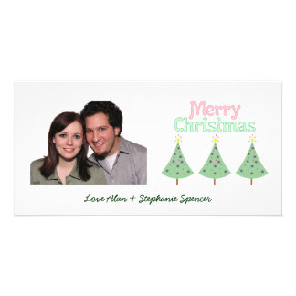 Merry Christmas Trees Photo Cards