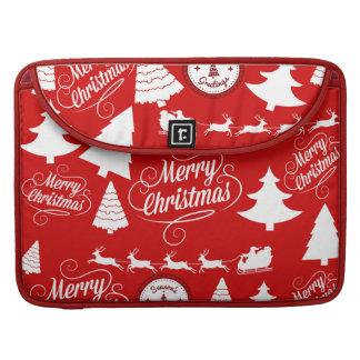 Merry Christmas Trees Santa Reindeer Holiday Sleeve For MacBook Pro