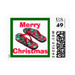 Merry Christmas Tropical Flip Flop Sandals Postage