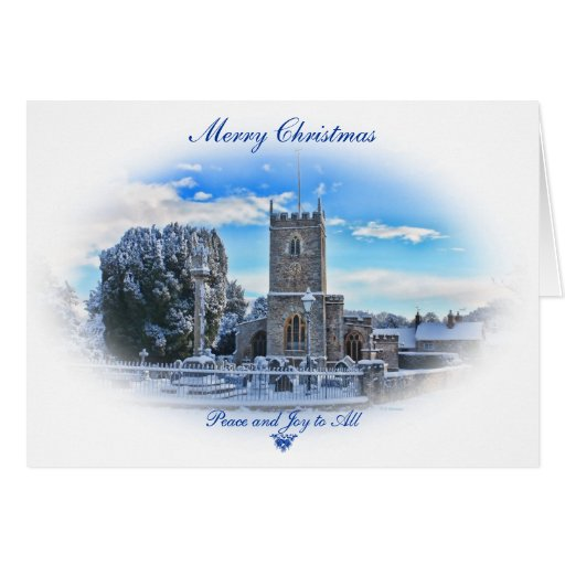 Merry Christmas{Trull Church in Snow} Greeting Card