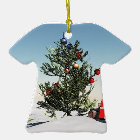 merry christmas tshirt ornament
