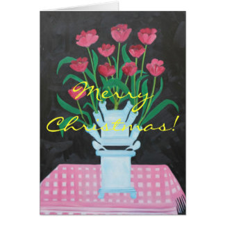 Merry Christmas Tulips Card