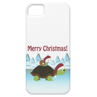 Merry Christmas! Turtle and Snail iPhone SE/5/5s Case