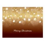 Merry Christmas Twirling Stars 3 Postcard