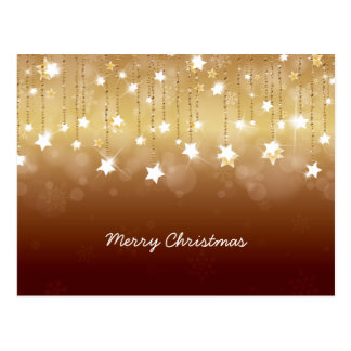 Merry Christmas Twirling Stars 3 Postcards