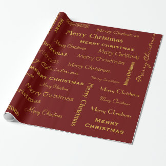 Merry Christmas Typestyles Font Art Wrapping Paper