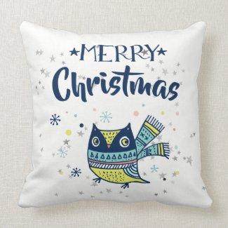 Merry Christmas Typography & Christmas Owl