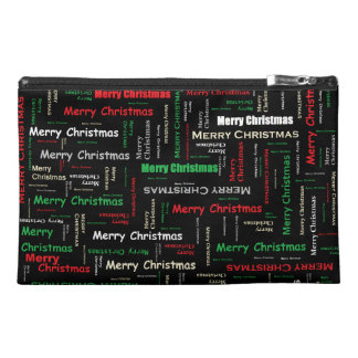 Merry Christmas Typography Pattern Travel Accessories Bags