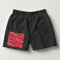 Merry Christmas Typography Pattern Boxers