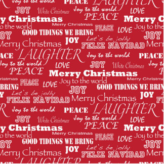 Merry Christmas Typography Pattern Cutout