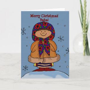 Ukrainian girl cards zazzle merry christmas ukrainian girl folk art holiday card m4hsunfo