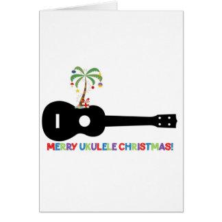 Merry Christmas Ukulele Card