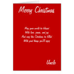Merry Christmas uncle cards
